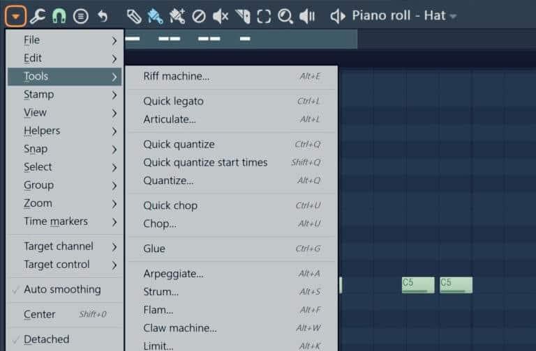 Cuantizar rápido en FL Studio 2