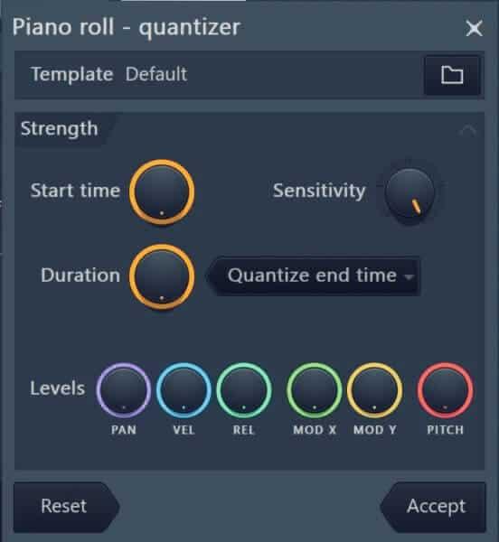 Cuantizar rápido en FL Studio 3